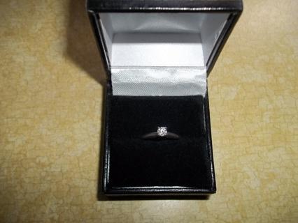 14k 1/4 carat white gold(AUTHENTIC)diamond ring