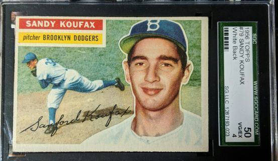1956 SANDY KOUFAX GRADED VERY GOOD TO EXCELLENT