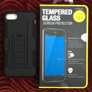 APPLE IPHONE 7 HARD CASE , HOLSTER , & TEMPERED GLASS FREE SHIPPING