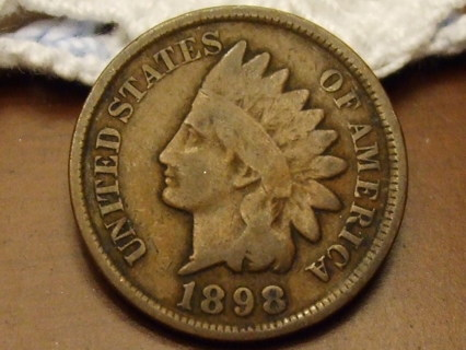 ***WOW RARE*** 1898 INDIAN HEAD CENT,117 YRS OLD SOLID COIN