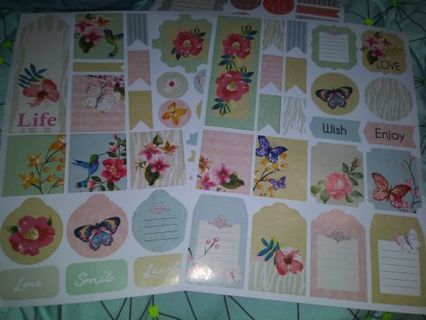 Scrapbook 2 huge sticker sheets really nice Lowest gins No refunds! selling out deals!