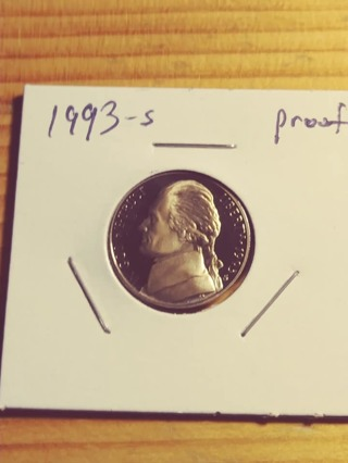 1993-S Proof Cameo Jefferson Nickel! 215