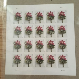 20 CONTEMPORARY BOUTONNIERE FOREVER STAMPS