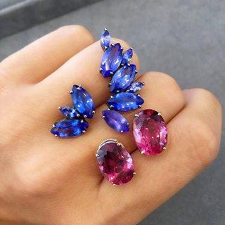 4 pcs/set Fashion Personality Rhinestone Geometric Stud Earrings Set Women's Birthday Engagement