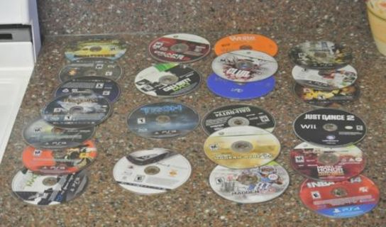 Lot of 23 Different PS3 Xbox360 WII PS4 Game Discs - FREE SHIPPING