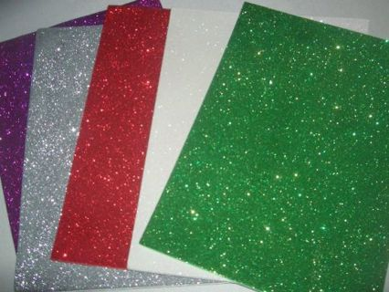 Free self adhesive glitter foam sheets 5 total red for Red craft foam sheets