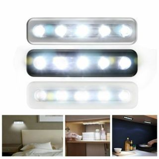 5 LED Cabinet Closet Light Kitchen Corridor Strip Wall Lamp Battery Operated