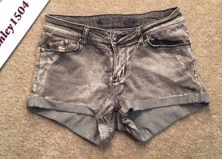 cutoff jean shorts grey short shorts