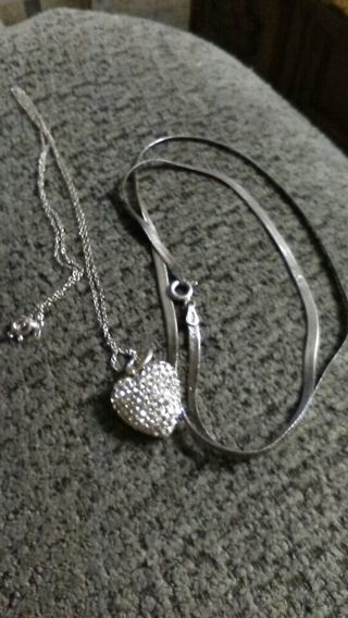 ACID TESTED STERLING SILVER NOT PERFECT NECKLACES