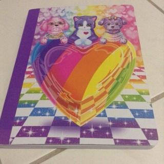 Lisa Frank 100 sheet composition notebook NEW