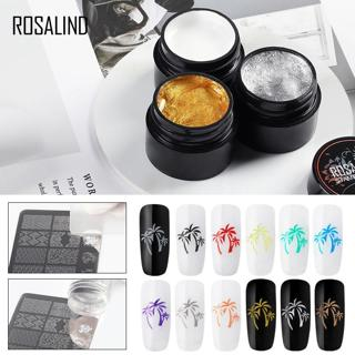 ROSALIND Nail Art Stamping Gel Print For Manicure Nails 5ml Colors Soak Off UV Decoration Stamping