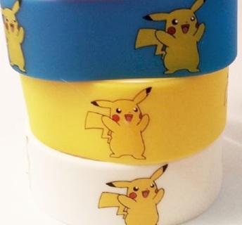3 PCS BRAND NEW Pokemon Pikachu WristBand bracelet POKEMON JEWELRY pocket monster anime FREE SHIPPIN
