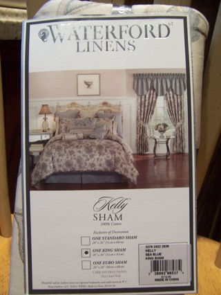 BRAND NEW IN PACKAGE WATERFORD LINENS KING SHAM
