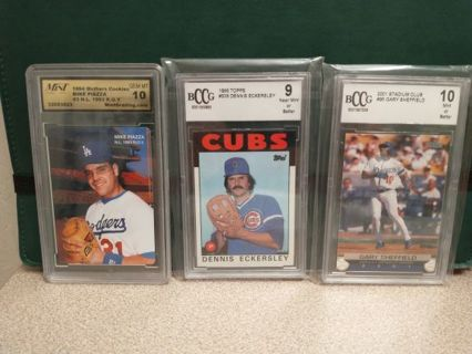 PROGRESSIVE BASEBALL AUCTION MOSTLY ROOKIES HALL OF FAMERS VINTAGE GRADED CARDS GREAT CARDS