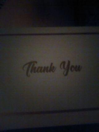 Blank thank u card