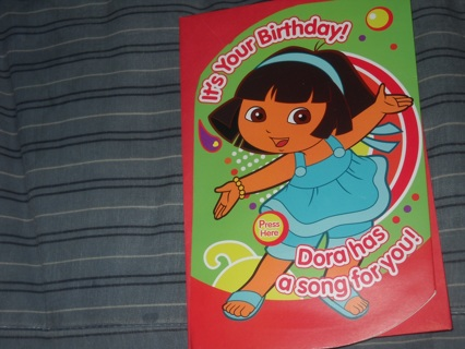 Free Dora Talking Birthday Card Birthday Listia Auctions