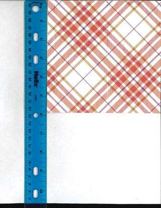 Orange Plaid Scrapbook Paper