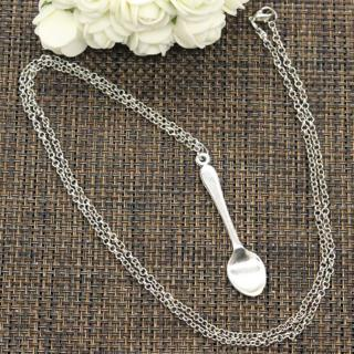 New Fashion Tibetan Silver Pendant spoon Choker Charm Short Long DIY Necklace Factory Price Handma