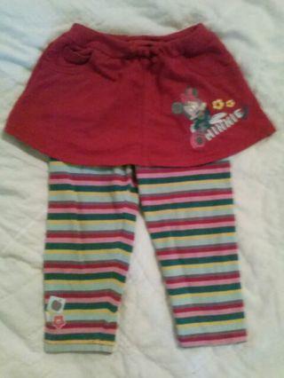 18 months Minnie skirt w leggings