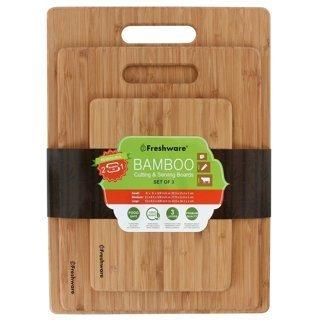 NEW Freshware Bamboo Cutting Board Healthy Kitchen Eating Food BPA-Free Natural 3 PCS FREE SHIPPING