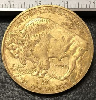 x1 *RANDOM YEAR* Coin United States Buffalo Copy Gold Coin Replica Memento Novelty FREE SHIPPING