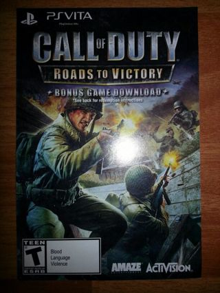cod roads to victory