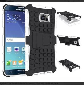 1 NEW SAMSUNG GALAXY s6 Case Scratch-Resistant Shock Absorbent Tire non slip Grip Stand