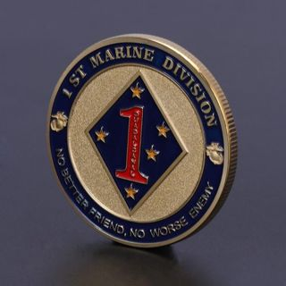 Marine Corps 1th Marine Division Commemorative Coin Collection Art Gift Souvenir