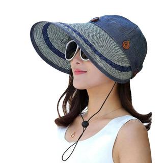 Hats Women Large Wide Brim Floppy Summer Beach , Hat Summer Hats For Women Anti-UV Visor