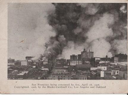 Vintage Unused Postcard: 1906 San Francisco Fire, CA~~~real photo