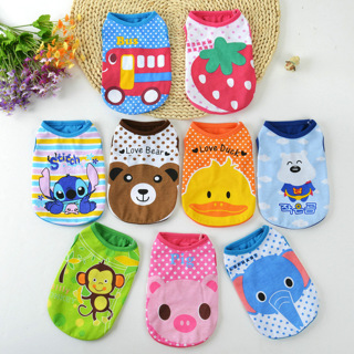 Cute Cartoon Pet Dog Clothes For Small Dogs Soft Cotton Pet T shirt Vest Summer Puppy Cat Clothing