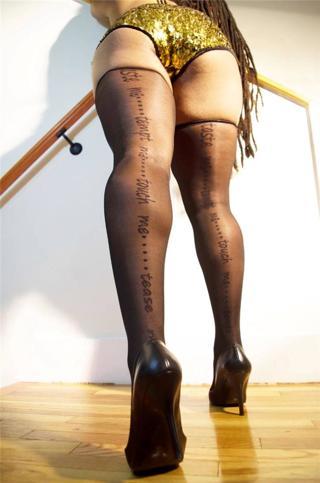 Black Back Seam Thigh High Stockings by Sicomar Studios