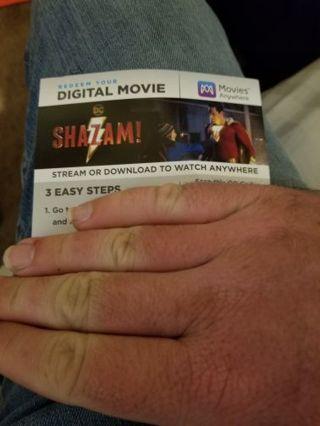 Shazam 4k digital copy vudu