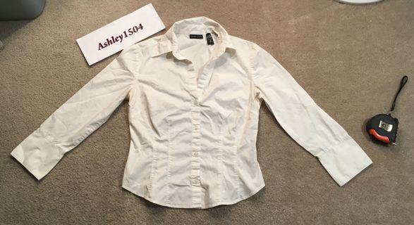 New York & Company Top Long Sleeve Shirt Blouse FREE SHIPPING
