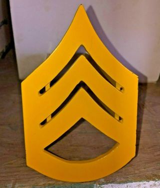 """Cool United States ARMY STAFF SERGEANT - 2"""" SQUARE. HITCH COVER METAL ART"""