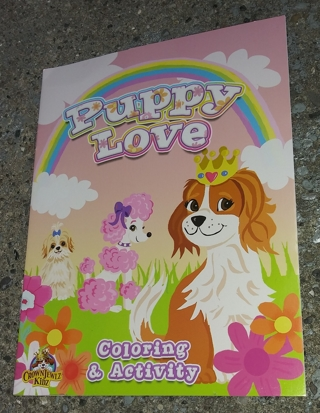 MEDIUM COLORING AND ACTIVITY BOOK PUPPY LOVE