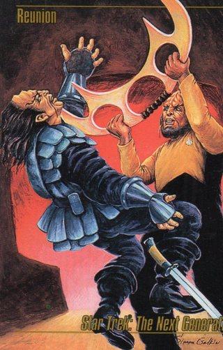 1993 Star Trek Collectible/Trade Card: The Next Generation: Reunion