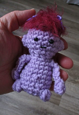 Troll Plushie. New. Crocheted by Me