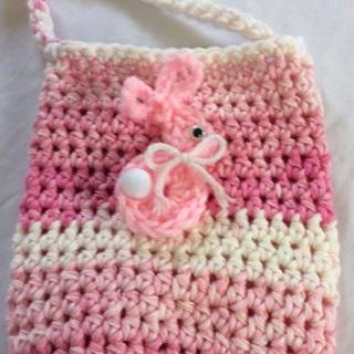 Hand Crochet Cotton Cross Body Beverage Cozy.