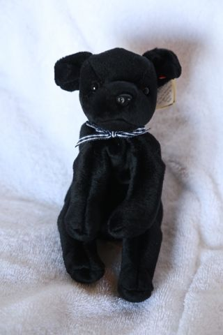 Free  ♥ TY Original Luke Beanie Babies- Black Lab - Collectible ... 333b00fb750