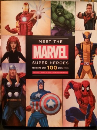 like new meet the marvels super hero book has over 100 characters