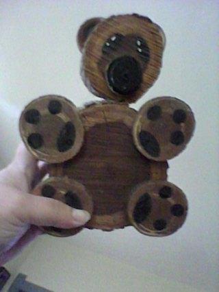 wow look cute log bear