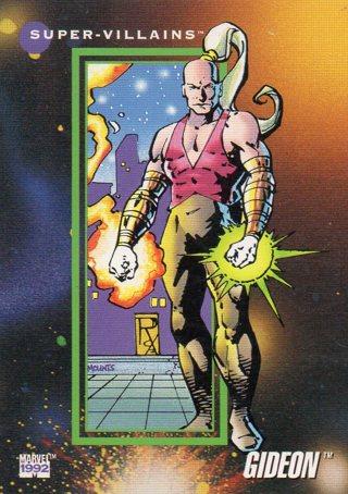 1992 Marvel Comic Trade Card: Gideon