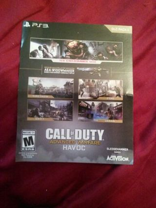 Free: Call of Duty Advanced Warfare Havoc DLC Pack PS3 prepaid code on