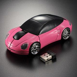 LED 3D 2.4G Car Shape Wireless Optical Mouse For Laptop PC