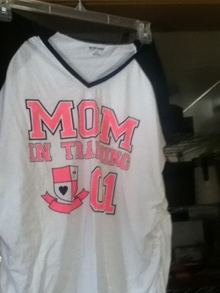 Mom in training maternity shirt