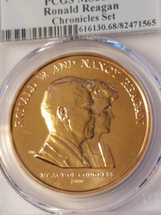 2016 Ronald Reagan Bronze Medal *Chronicles Set* PCGS MS68RD First Strike