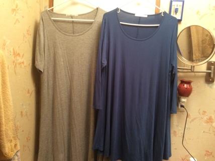 2 New Tunic/Dresses fits like 2X