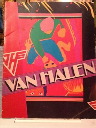 VAN HALEN 1981 FAIR WARNING TOUR CONCERT PROGRAM BOOK Rock Band David Lee Roth