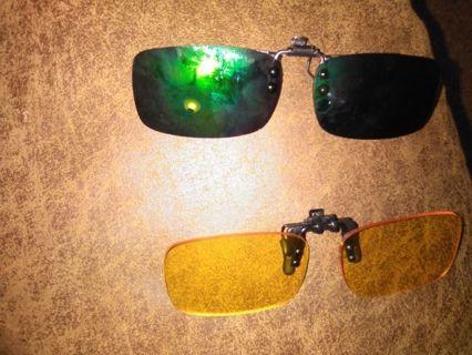 2 clip on Blue Light Glasses